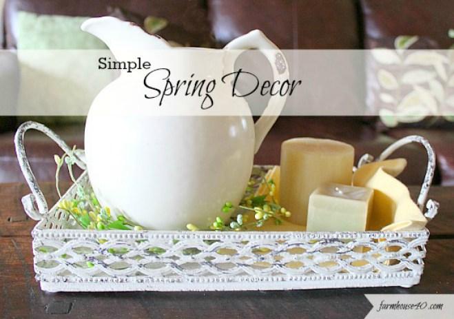 simply spring decor