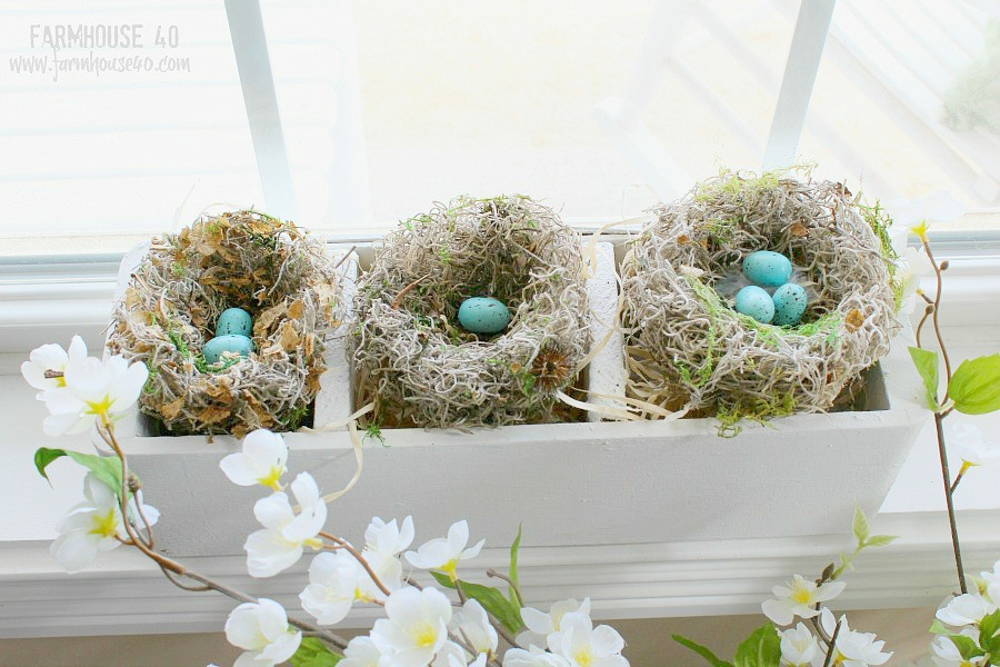 3 bird nest for spring