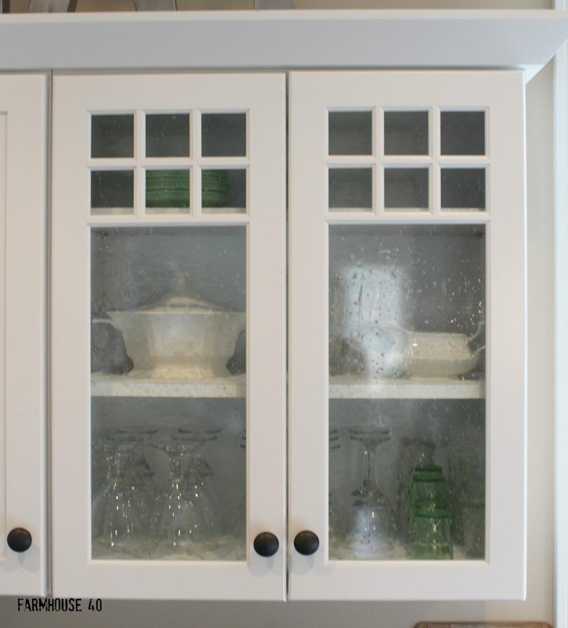 farmhouse kitchen glass front cabinet doors