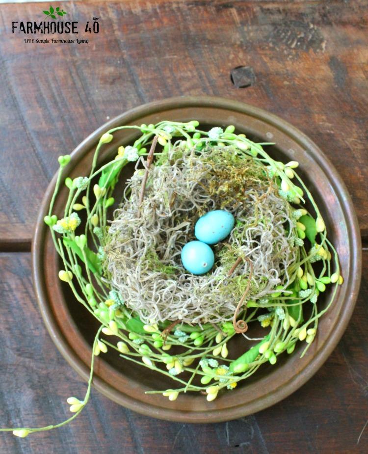 bird nest and colander