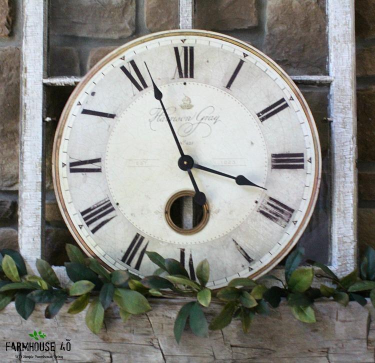 clock face on mantel