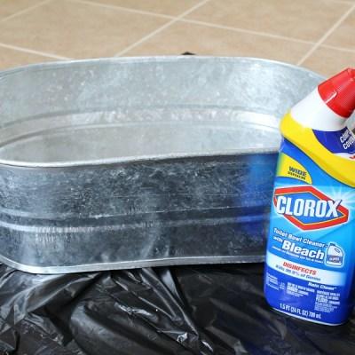 Distressing Galvanized Metal Tubs -DIY