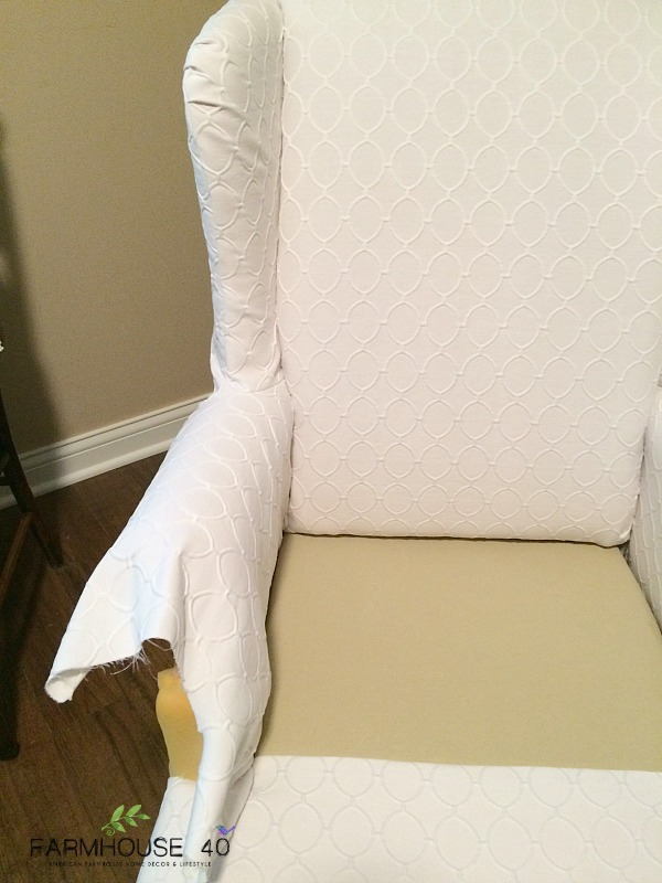 White-Wing-Backed-Chair-reupholstery-project