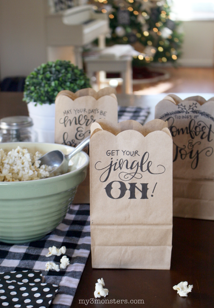 handlettered-christmas-gift bags