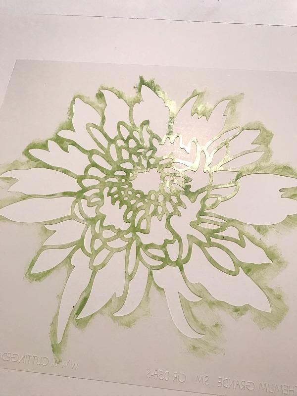 flower stencil wall art