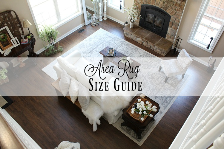 Area rug size guide farmhouse 40 for Rug sizes for living rooms