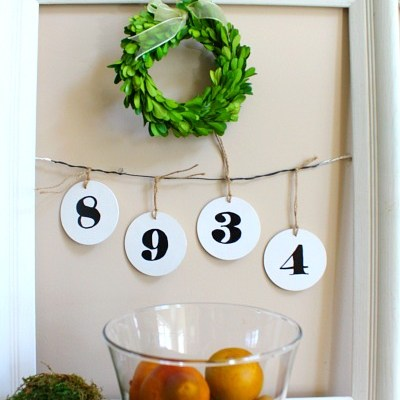 Easy Decor White Frame Hanging Numbers