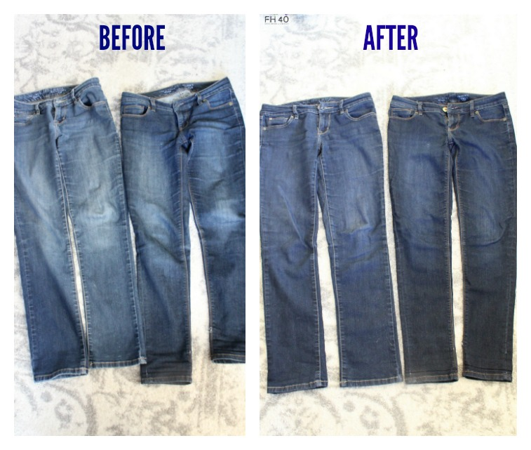 Brilliant trick-faded-jeans-look-like new