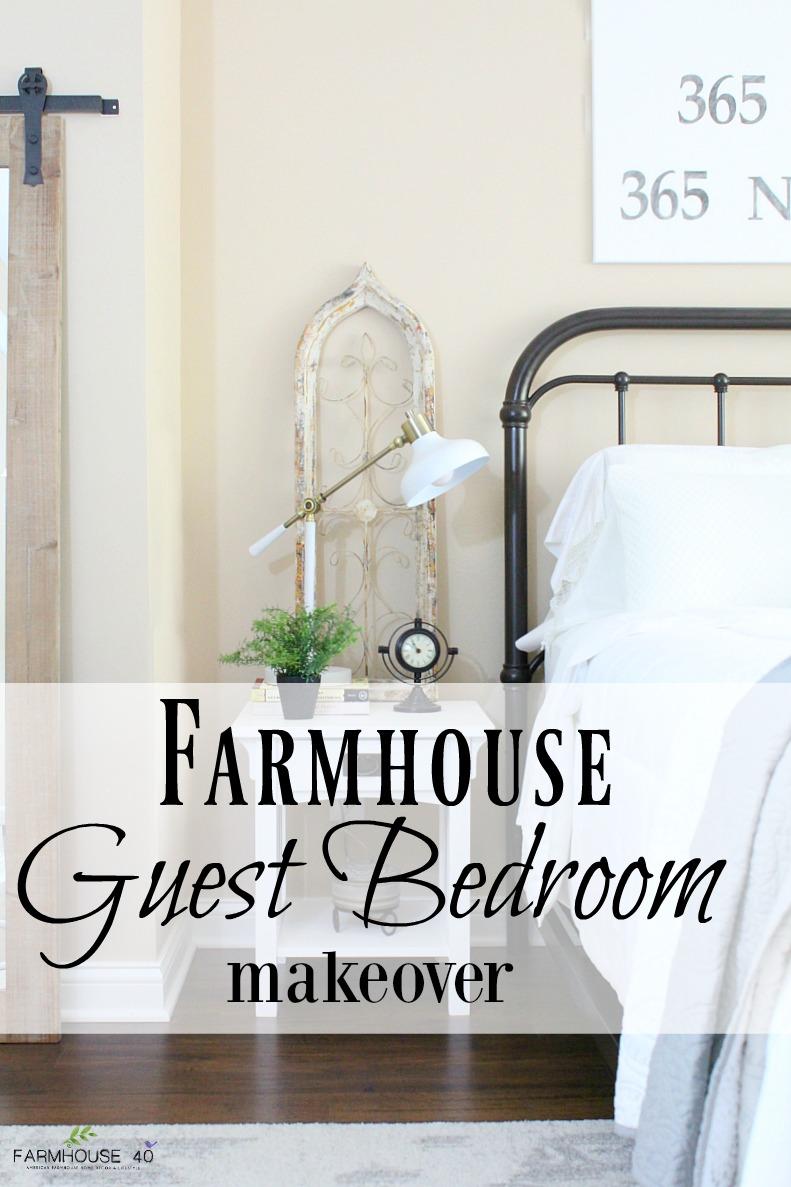 Farmhouse guest bedroom final reveal farmhouse 40 for Farmhouse guest bedroom