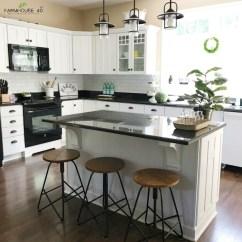 Faux Brick Kitchen Cabinet Prices Diy Backsplash Farmhouse 40