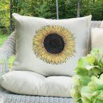 Easy To Make Sunflower Pillow