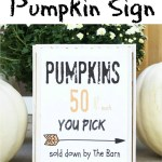 DIY Pumpkin Sign Printable