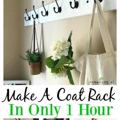 Make A Coat Rack In Less Than 1 Hour