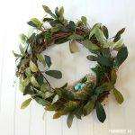 How To Make A Spring Bird Nest Wreath