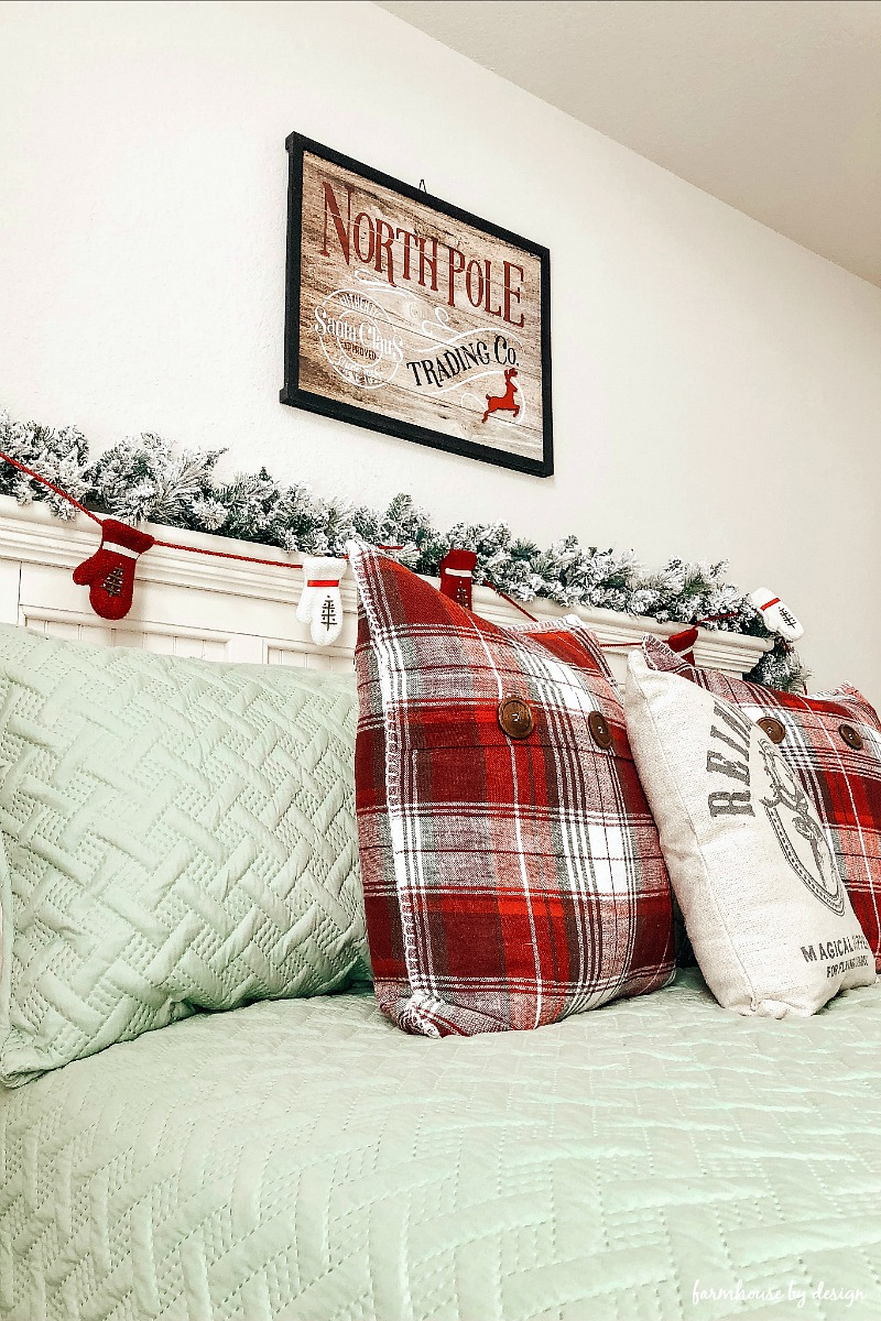 Guest Room Christmas Bedding