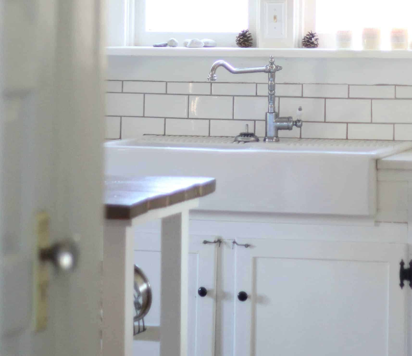 ikea kitchen cabinets reviews renovation cost our experience with the domsjo double bowl farmhouse ...