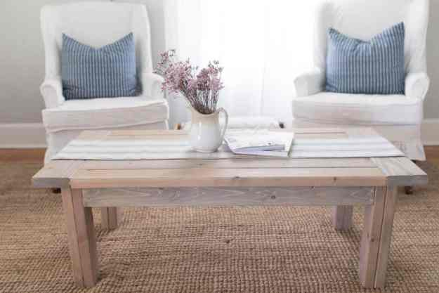 farmhouse coffee table diy plans - farmhouse on boone