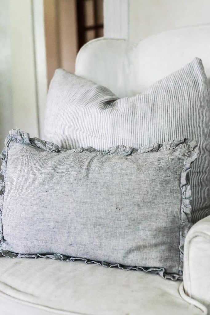 ruffle linen pillow cover sewing