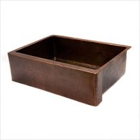 """30"""" Copper Hammered Single Bowl Farmhouse Kitchen Sink in Oil Rubbed Bronze"""