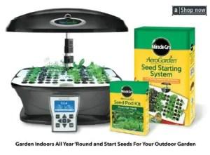Indoor Aerogarden hydroponics indoor kit