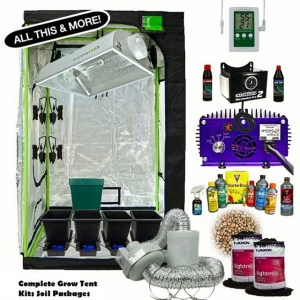 complete grow tent kits soil packages