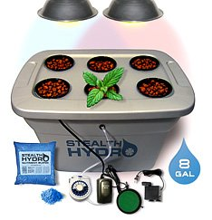 Stealth Hydroponics Dual Spectrum Bubbleponic 6 Planter Complete Kit
