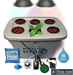 Stealth Hydroponics Dual Spectrum Bubbleponic 6 Planter Complete Kit