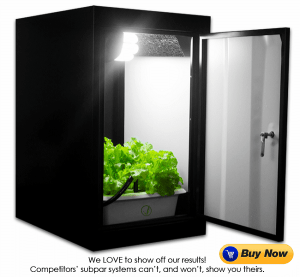 Indoor Home Hydroponic grow closet