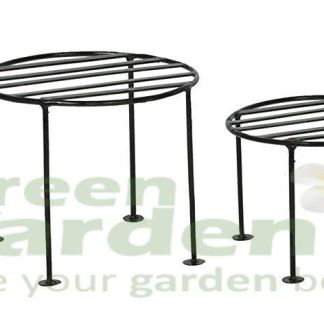 Green Gardenia Iron Plant Stand/Pot Stand (Set of 4)
