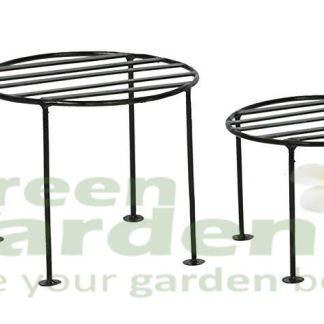 Green Gardenia Iron Plant Stand/Pot Stand (Set of 4)