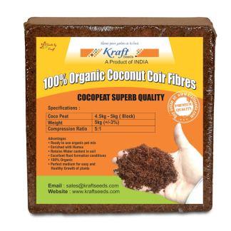 Kraft Seeds Compressed CocoPeat Block