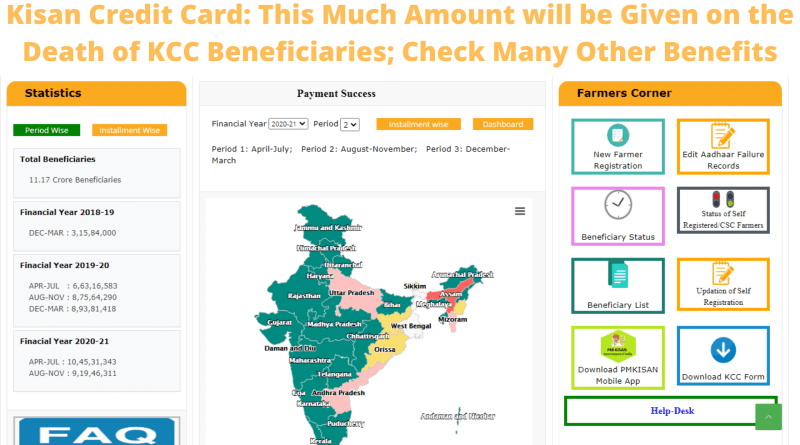Kisan Credit Card: This Much Amount will be Given on the Death of KCC Beneficiaries; Check Many Other Benefits