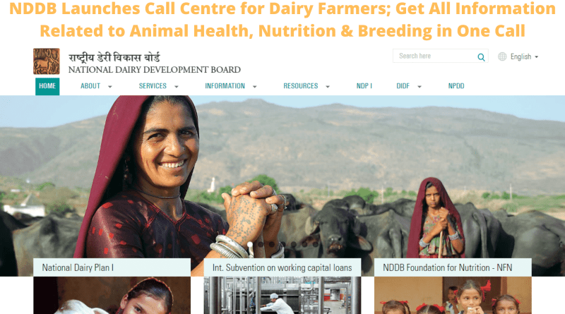NDDB Launches Call Centre for Dairy Farmers