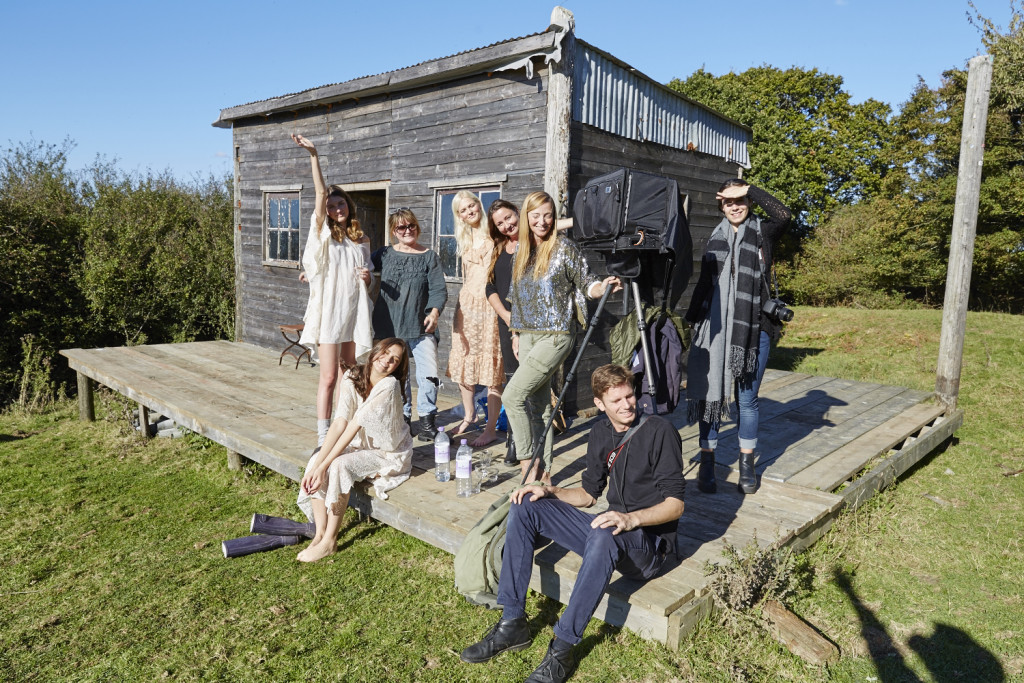 The crew from #projectlandgirl at Lidham Hill farm, shoot location in Sussex