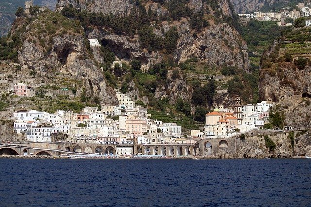View of Atrani, Amalfi Coast, Campania, Italy.