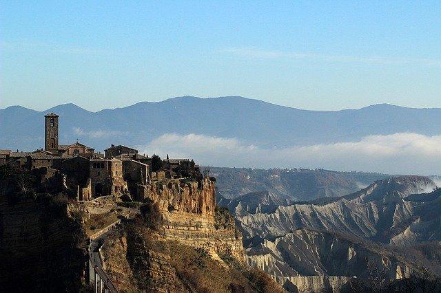 View of Civita di Bagnoregio, Lazio, Italy.