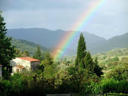 Rainbow, farm South of France