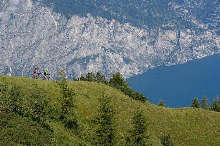 View of Lake Garda, Lombardy, Italy.