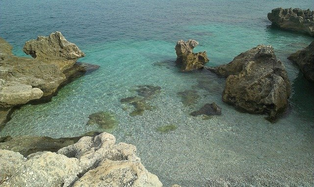 Bay in Zingaro Reserve between Palermo and Trapani, rural Sicily