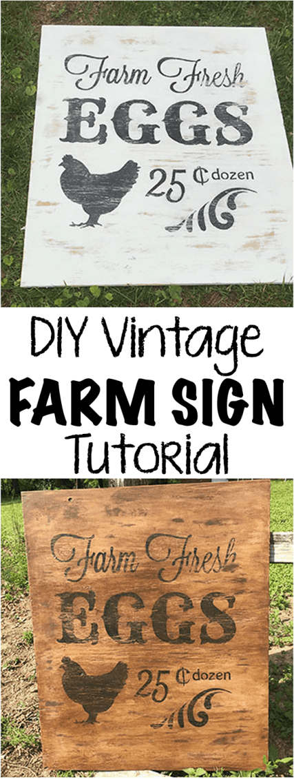 Diy Vintage Farm Sign Farmstead Chic