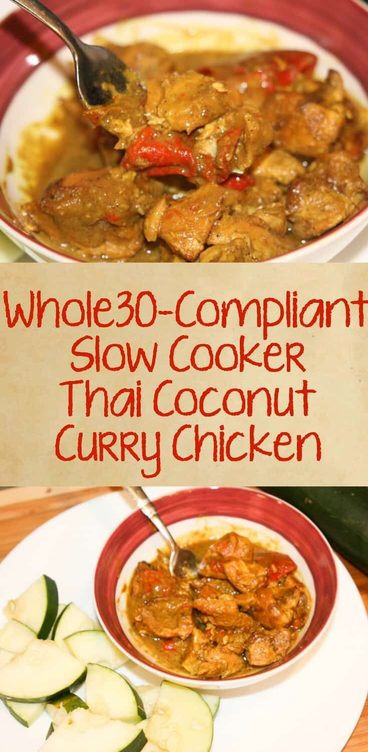 Whole30 Thai Curry Coconut Chicken
