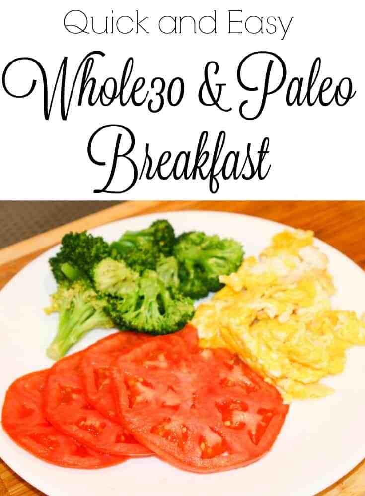 Whole 30 Breakfast, Quick and Easy