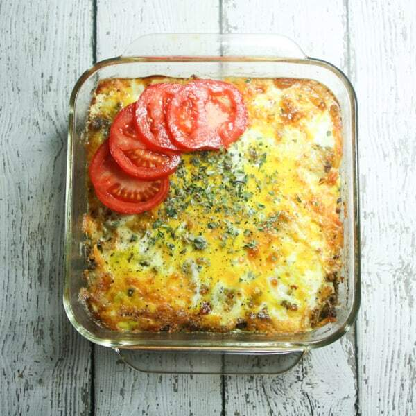 This easy, cheesy, beefy low-carb casserole requires only 6 ingredients (+S&P) and is grain-free, gluten-free and Primal diet-compliant!