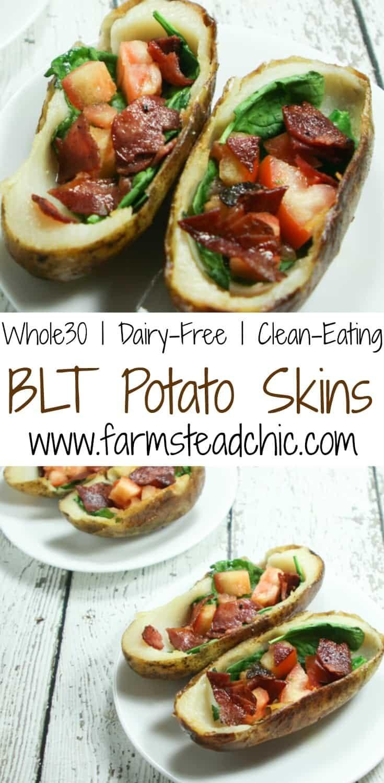 Whole30 Potato Skins Blt Potato Skins Farmstead Chic