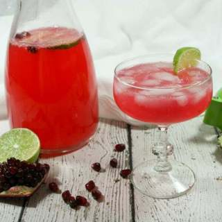 Non-Alcoholic & Whole30 Pomegranate Lime Sparkler