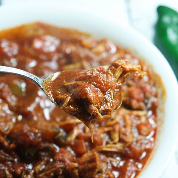 Warm and spicy, quick and easy, this Paleo and Whole30 Leftover Turkey Chili is the perfect weeknight dinner on a cold, rainy winter night.