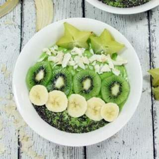 Paleo & Whole30 Tropical Avocado Smoothie Bowls
