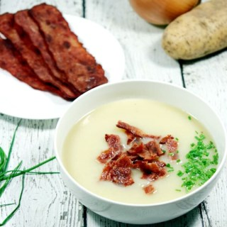 Dairy-Free & Whole30 Potato Leek Soup, Creamy + Spicy