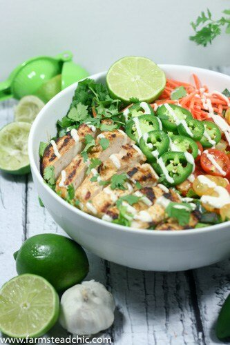 This Taco Ranch Grilled Chicken Salad combines two of summer's greatest joys: (1) grilling and (2) loads of fresh veggies. Add some Mexican spices and Ranch seasoning and ... what are you waiting for?? Whole30, Paleo, Dairy-free!