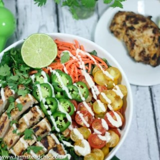 Taco Ranch Grilled Chicken Salad, Whole30 + Paleo